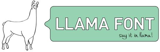 LlamaFont Header
